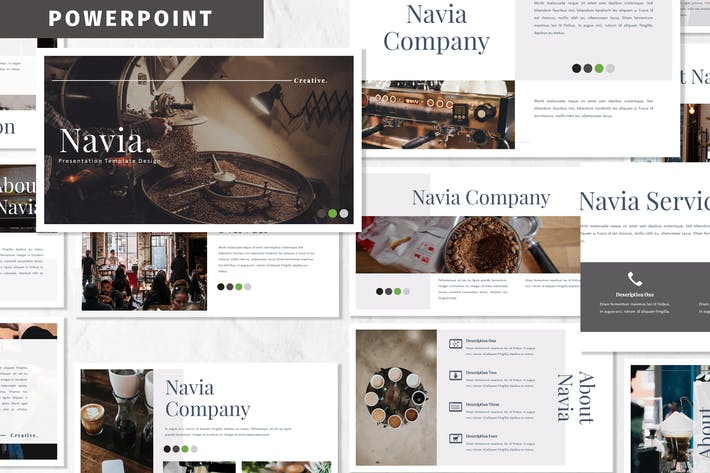 Thumbnail for Navia - Coffee Powerpoint Template