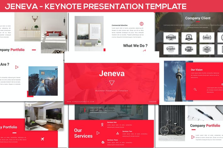 Thumbnail for Jeneva - Keynote Presentation Template