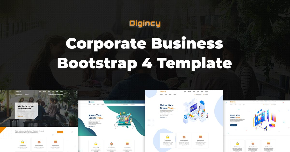 Download Digincy – Corporate Business Bootstrap 4 Template by codecarnival