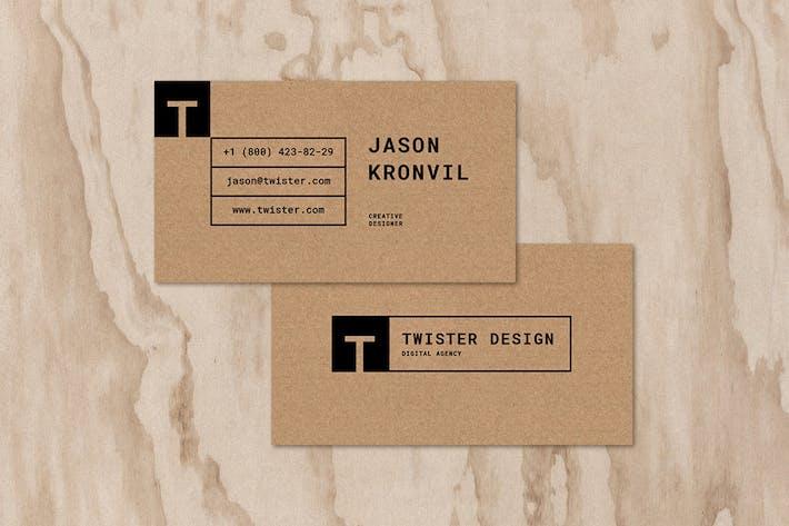 Thumbnail for Twister Carte de visite personnelle