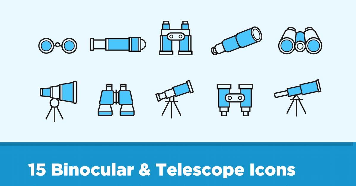 Download 15 Binocular Telescope Icons by creativevip