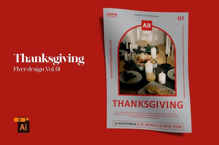 Thanksgiving Flyer Design Vol. 01