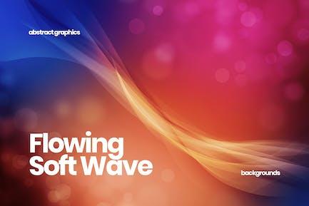 Fließende weiche Wellen Hintergründe