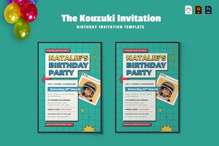 Kouzuki | Birthday Invitation