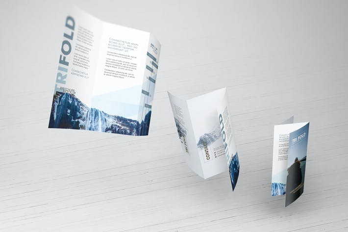 Thumbnail for Trifold Brochure Mockups