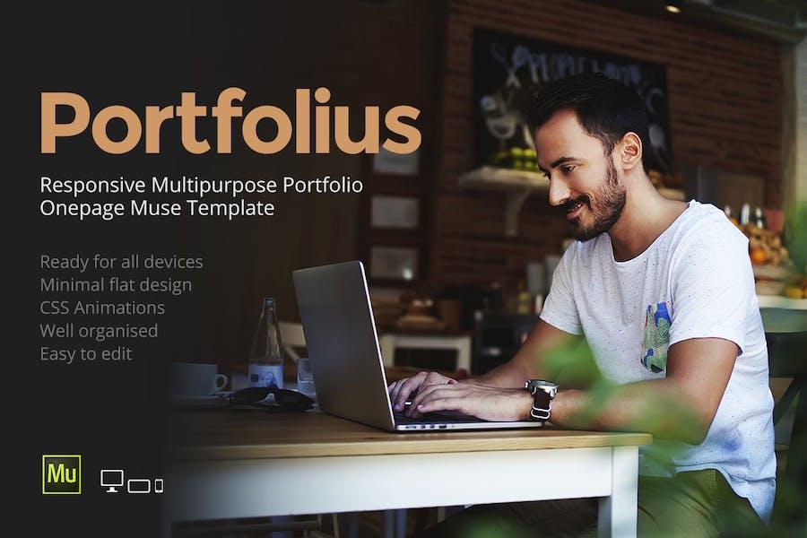 Portfolius - Responsive Portfolio Template - product preview 0