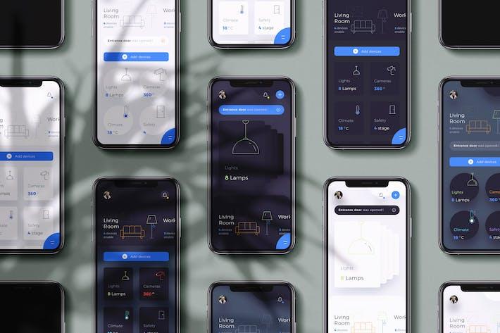 Thumbnail for 10 Telefon Armaturenbrett Smart Home Ui Kit