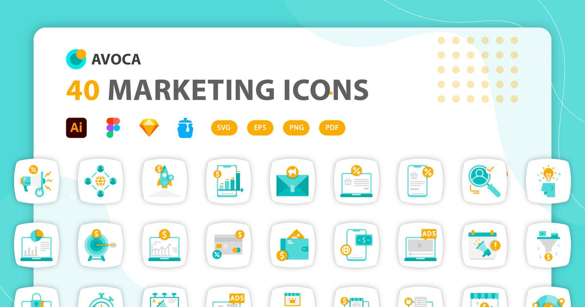 Download Avoca - Marketing Icons by kerismaker