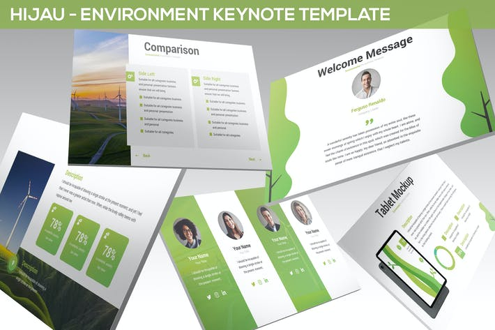 Thumbnail for Hijau - Environment Keynote Template