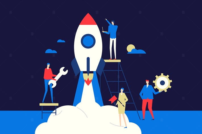 Thumbnail for Startup - flat design conceptual illustration