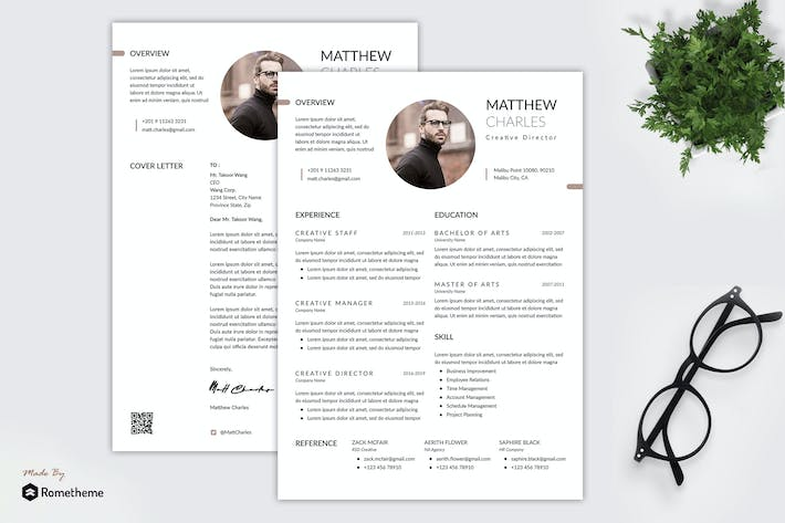 Thumbnail for Matthew - Clean Minimalist Resume RY