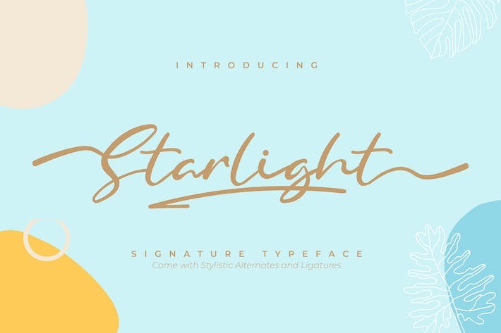 Thumbnail for Starlight | Fuente tipo de letra Signature