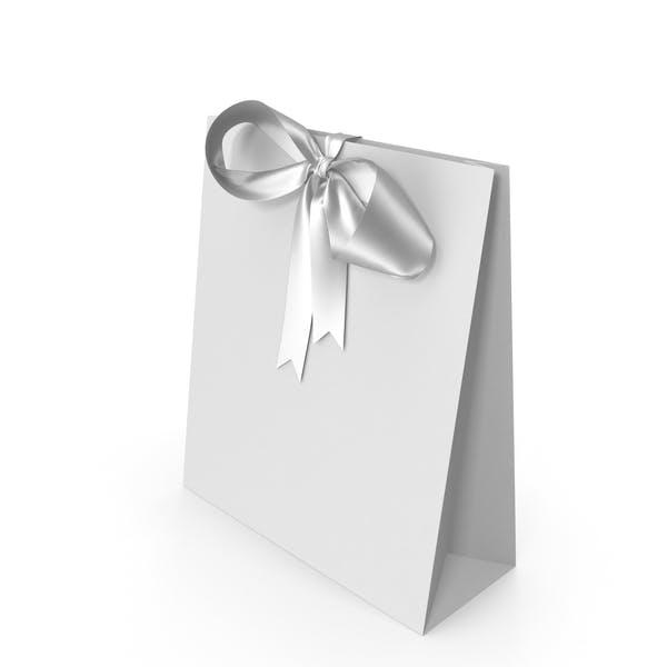 Белая упаковочная бумага с белым бантом ленты