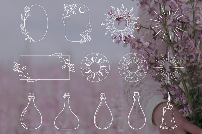 Thumbnail for White Decorative Elements Illustrations, Frames.