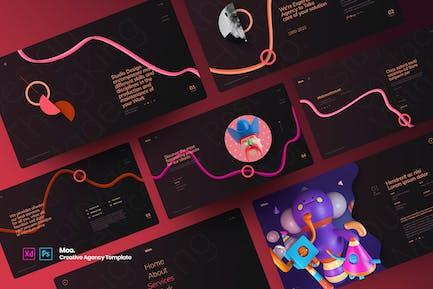 Moo - Creative Agency Template
