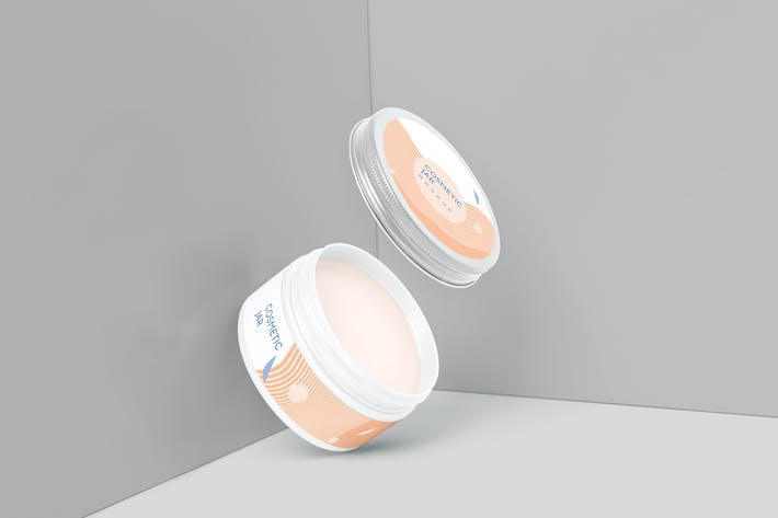 Thumbnail for Steel Lid Cosmetic Jar Mockups