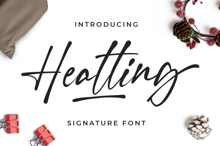 Thumbnail for Heatting - Signature Font