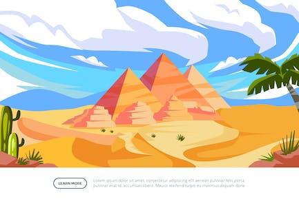 Pyramid - Famous Landmark Illustration