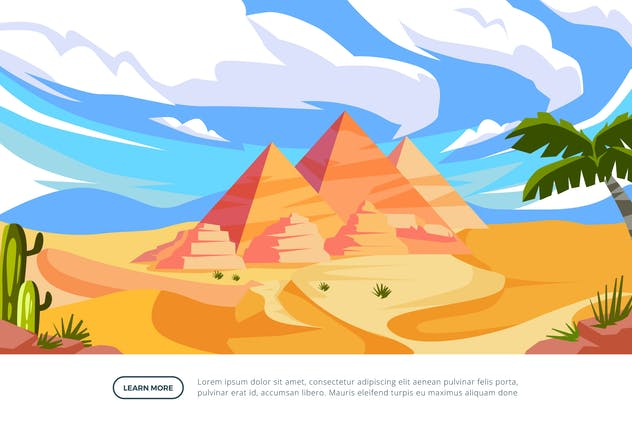 Pyramid - Famous Landmark Illustration