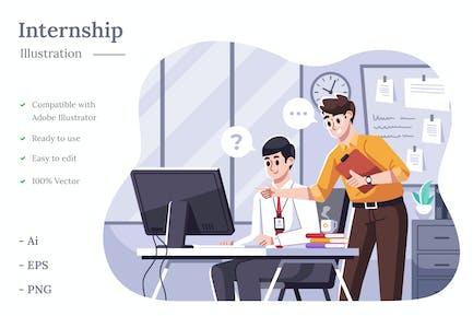 Corporate Intern Illustration