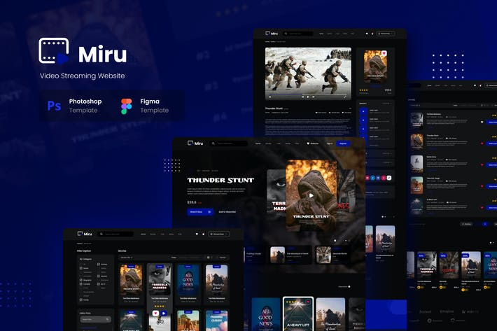 Thumbnail for Miru - Video Streaming Website UI Template