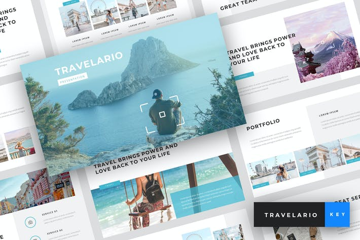 Cover Image For Travelario - Travel Keynote Template