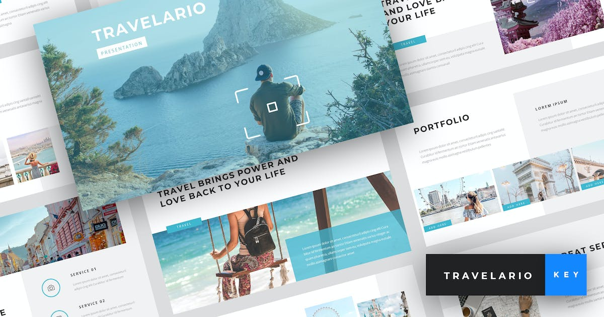 Download Travelario - Travel Keynote Template by StringLabs
