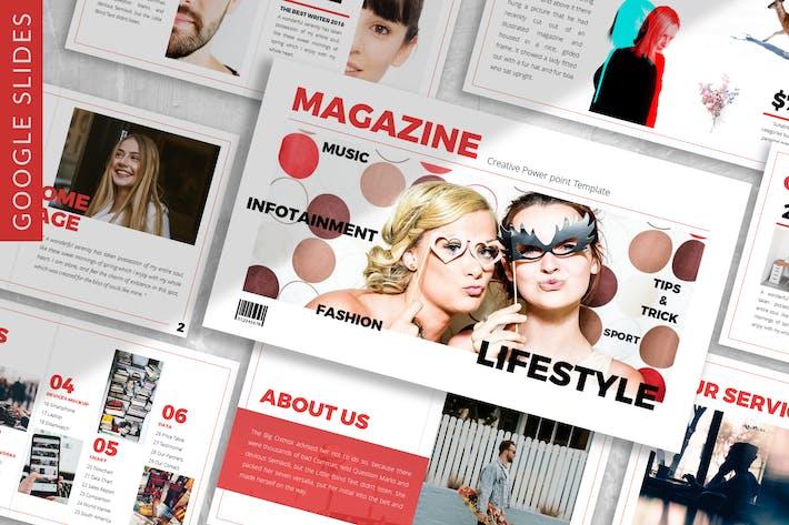Thumbnail for Журнал - Бизнес Google Слайд Шаблон