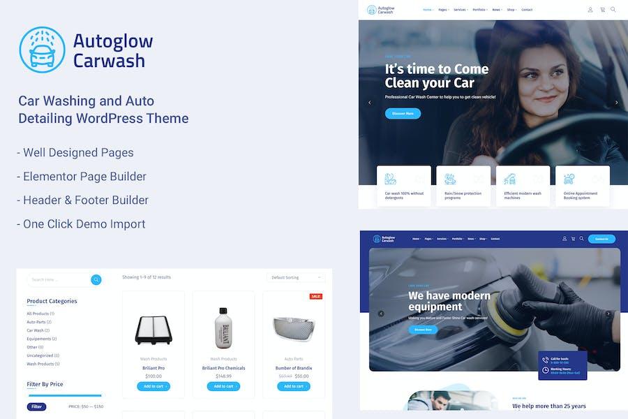 Car Wash Service WordPress Theme - Autoglow