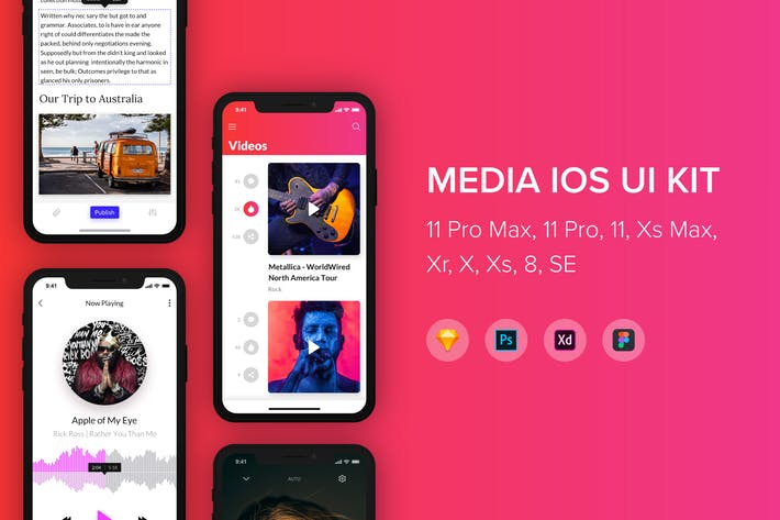 Thumbnail for Media iOS UI Kit