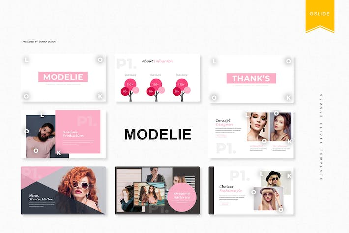 Thumbnail for Modelie | Google Slides Template