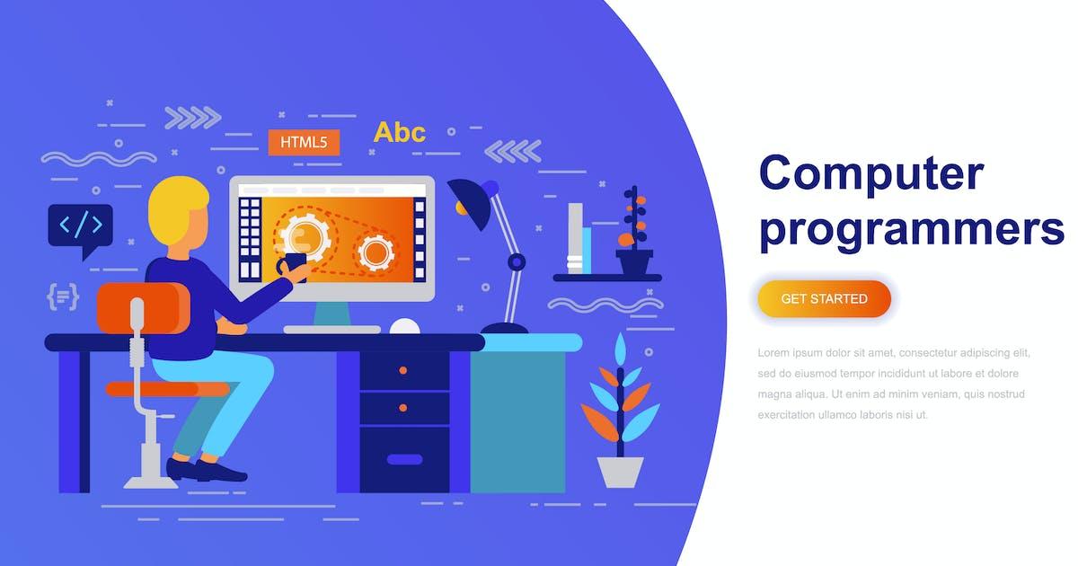 Download Computer Programmers Modern Flat Concept by alexdndz