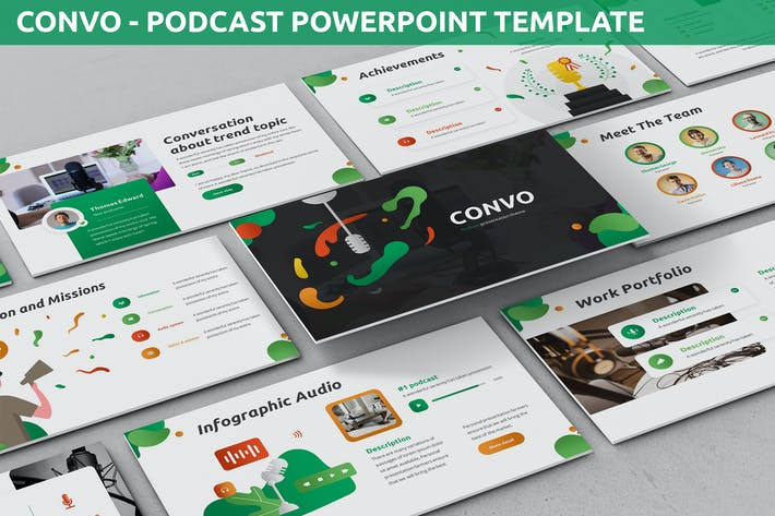 Thumbnail for Convo - Подкаст Шаблон Powerpoint