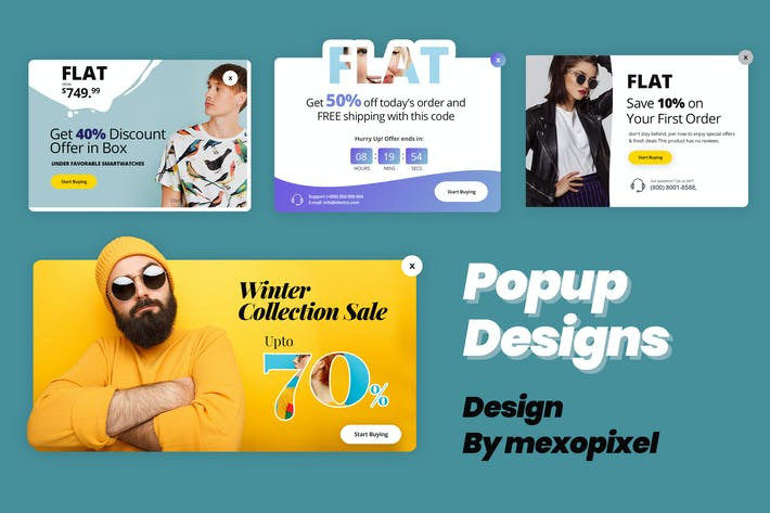 Thumbnail for Popup Sales Design Promotion Online Business