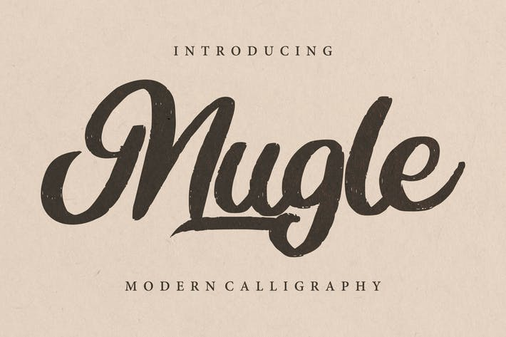 Thumbnail for Mugle | Modern Calligraphy Script Font
