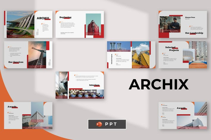 Thumbnail for ARCHIX - Архитектура Powerpoint Шаблон