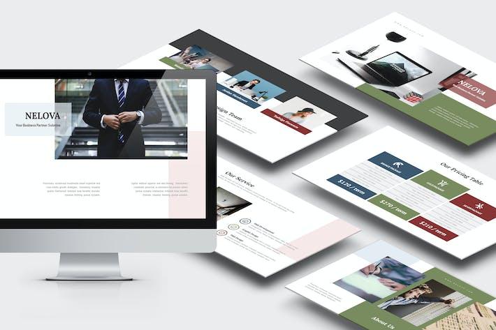 Thumbnail for Nelova : Startup Pitch Deck Keynote