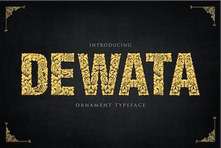 Dewata - Tipo de letra de adorno