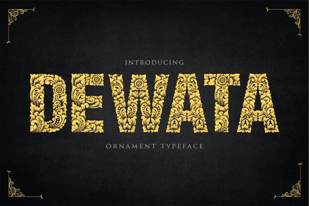 Dewata - Ornament Typeface - product preview 4