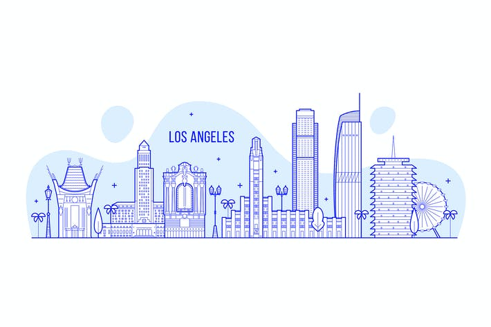 Thumbnail for Los Angeles skyline, USA