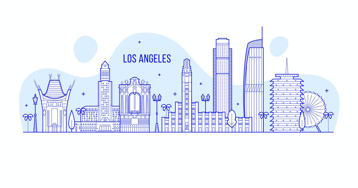 Los Angeles skyline, USA by gropgrop