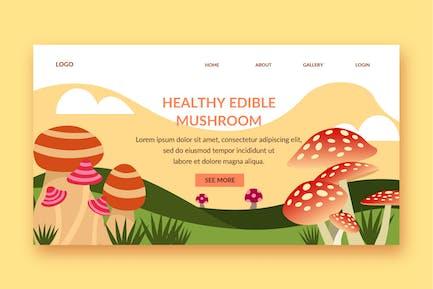 mushroom landing page template