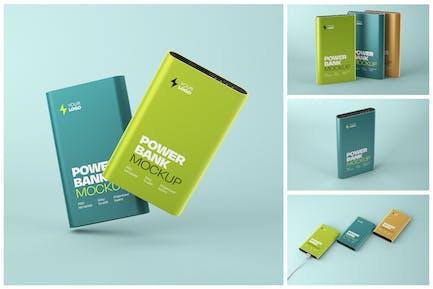 Glossy Power Bank Mockup Set
