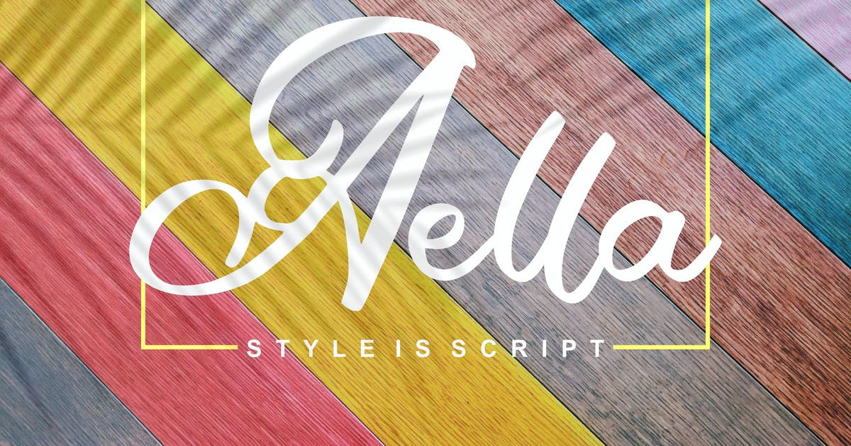 Download Aella | Style Is Script Font by Vunira