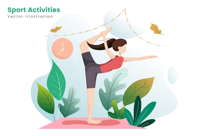 Thumbnail for Sport Activities Flat Illustrations
