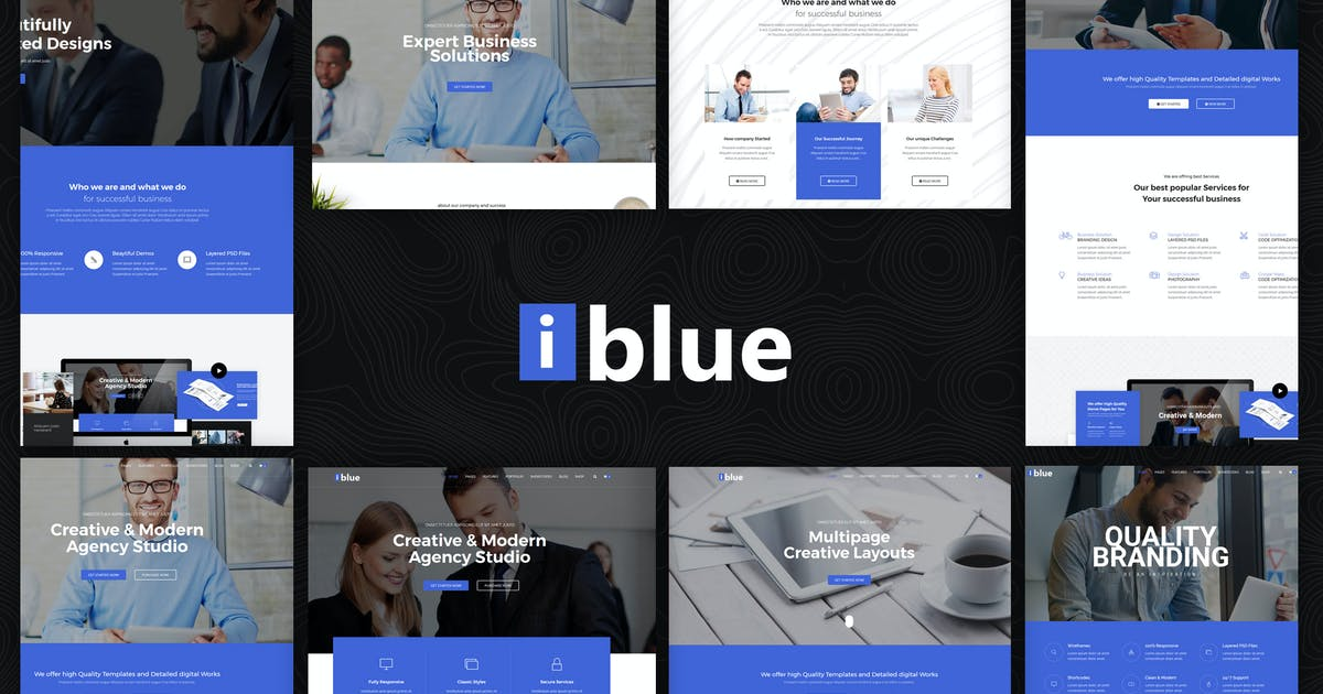 Download iblue - Responsive Multipurpose HTML5 Template by codelayers