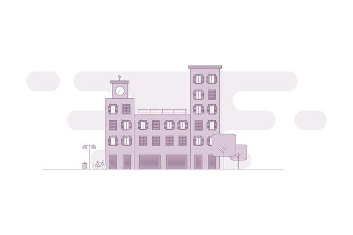 Thumbnail for Cityscape - Apartment Building Vector Illustration