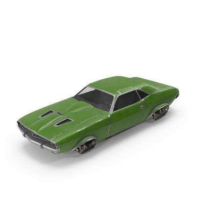 Fliegendes Auto grün