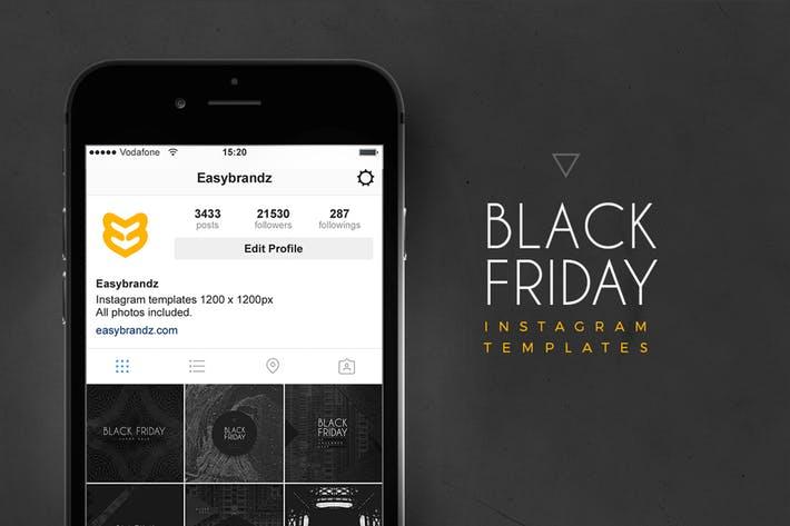Thumbnail for Instagram Black Friday Templates