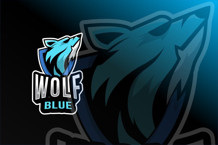 Thumbnail for Wolf Blue Esport Logo Template